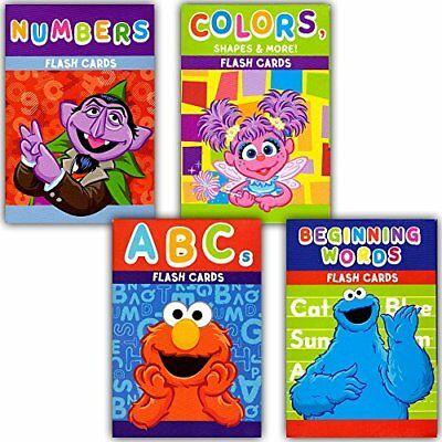 Sesame Street Educational Flash Cards For Early Learning  Set Includes Colors