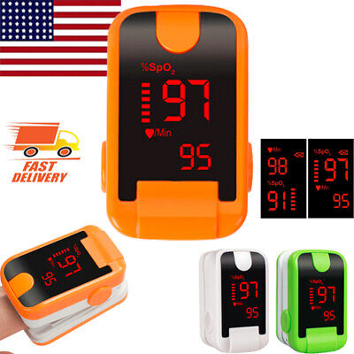 Led Finger Pulse Oximeter Spo2 Pr Oxymeter Blood Oxygen Monitor Optional Fdace