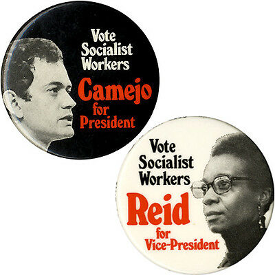1976 Camejo Reid Socialist Workers Party Presidential Button Set (5161)