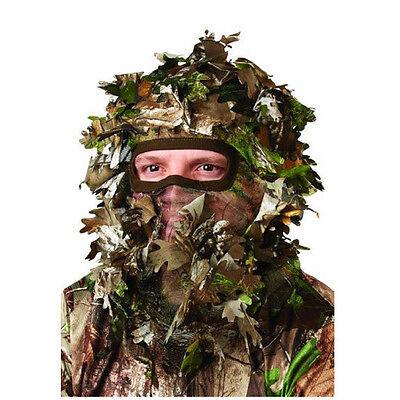 Real Tree Camouflage Oak Leaf Hunting Balaclava Veil Hat Hood Snood Head Cover