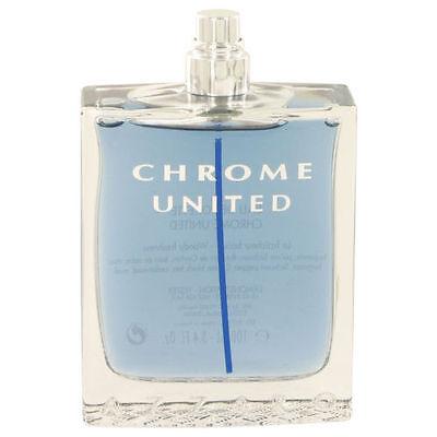 Chrome United By Azzaro 3 4 Oz Edt Cologne For Men Brand New Tester