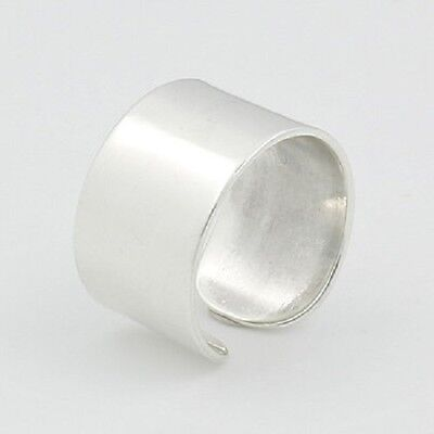 Midi silver ring knuckle ring adjustable 925 sterling 10mm wide  3us 4.5us