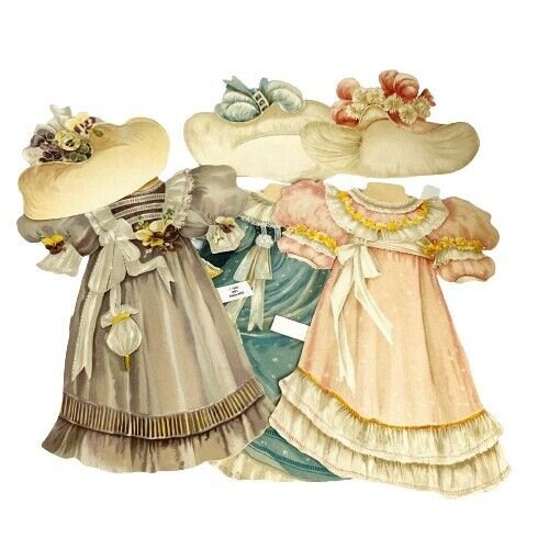 Lady Jane Collectors Dress-Up Paper Doll by Mamelok Dresses & hats only