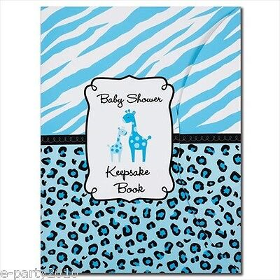 SWEET SAFARI BOY KEEPSAKE BOOK ~ Baby Shower Party Supplies Favors Animal Print ()