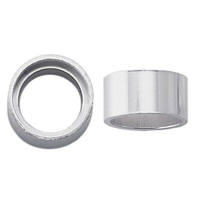 Sterling Silver 5mm Round Tube Bezel Setting, Pack Of 2