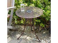 Solar Garden Bistro Table Outdoor Light Bronze Finish Warm White LED