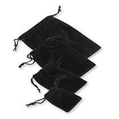 12 Velvet Drawstring String Pouches Bag 1.75x2 1