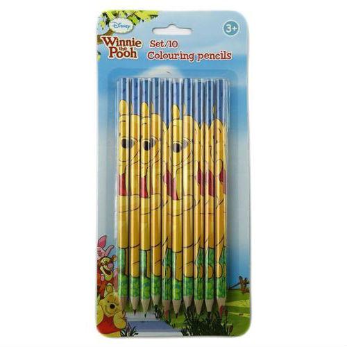 Set de 10 crayons de couleur WINNIE L'OURSON