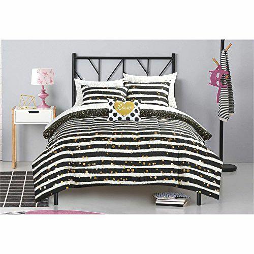 Casa Gold Glitter Bed in A Bag Set, Twin XL