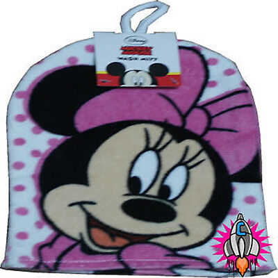 NEW OFFICIAL DISNEY MINNIE MOUSE PINK POLKA DOT WASH MITT FLANNEL GLOVE ()