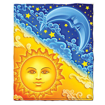 Sun and Moon Fleece Throw Blanket