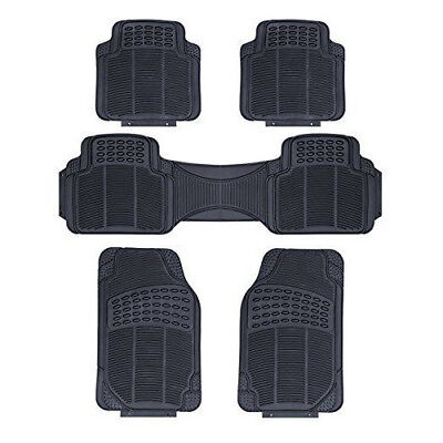 MITSUBISHI L200 ALL YEARS   HEAVY DUTY UNIVERSAL RUBBER CAR FLOOR MATS 5 PIECE