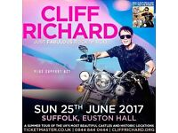 Cliff Richard Just Fabulous Rock n Roll Ticket For Euston Hall 25th June