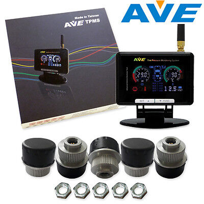 AVE TPMS 5 External Sensor Tire Pressure Monitoring System & LF Remote Control