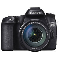 Canon EOS 70D DSLR Camera with 18-135mm IS STM Lens Kit