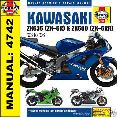 Kawasaki ZX-6R ZX-6RR ZX6 ZX600 2003-2006 Haynes Manual 4742 NEW