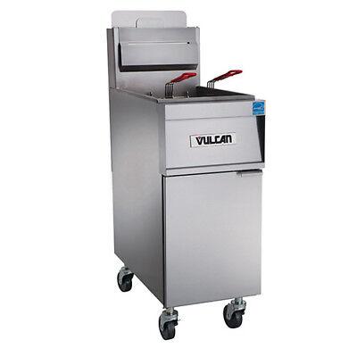 Vulcan 1gr45m Natural Gas Fryer - 50 Lb. Oil Cap.