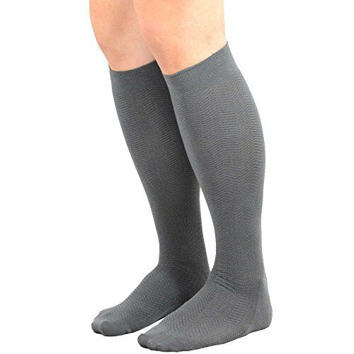 TeeHee Men's Bamboo Dress Over the Calf Socks Assorted Color 6-pack Solids 10-13