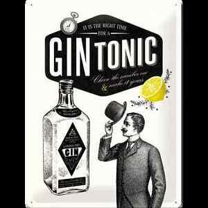 Targa-in-Latta-Gin-Tonic-30-x-40-in-metallo-stampato