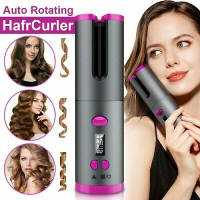 Cordless Auto Rotating Ceramic Hair Curlers USB Rechargeable Curling Iron Styler Hair Care & Styling