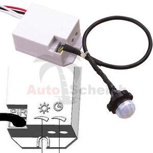 Mini-PIR-installazione-Rilevatore-di-Movimento-ad-incasso-UP-Infrarossi-Led-360