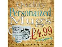 Personalised mugs, brand mugs