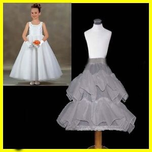 WHITE BRIDAL WEDDING DRESS PROM PETTICOAT UNDERSKIRT CRINOLINE Skirt S-XL