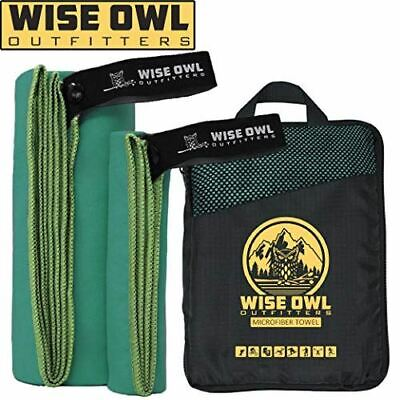Wise Owl Outfitters Camping Towel - Ultra Soft Compact Quick Dry Microfiber
