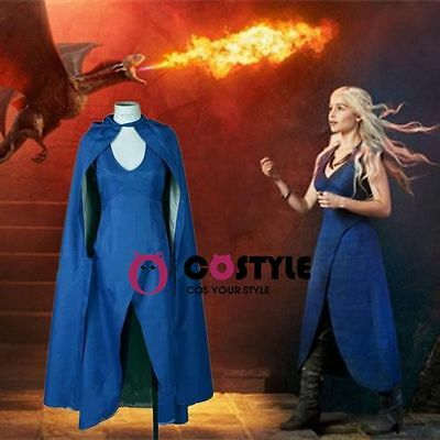 Game Of Thrones Daenerys Targaryen Dress Women Halloween Cosplay Costume Us Ship