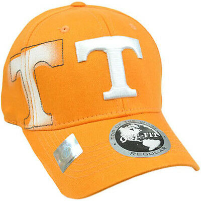 wholesale dealer c48ad ad9d4 NCAA Tennessee Volunteers Vols Hat Cap Flex Fit Stretch Top of the World  Orange