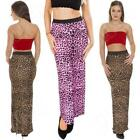 Animal Print Maxi Skirts for Women