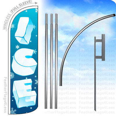 Ice - Windless Swooper Flag Kit Feather Banner Sign - Bq