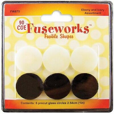 Diamond Tech Crafts Fusible Opaque Glass Shapes 90COE Rounds - 429489