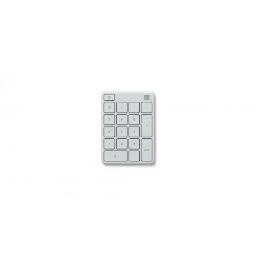 Microsoft Number Pad Glacier - Bluetooth 5.0 Connectivity - 2.4 GHz Frequency Ra