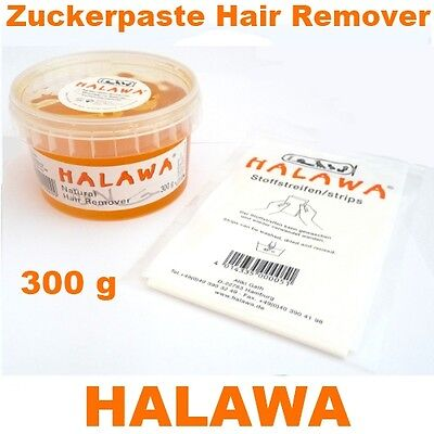 HALAWA® - Brazilian Waxing 300g + Stoffstreifen Natürliche Haarentfernung