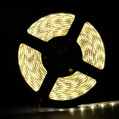 Warm White Waterproof 5050 SMD 300LED 5M 60LED/M Light Strip Flexible 12V on Rummage