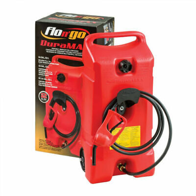 Wheeled Fuel Gas Container Hand Pump Transfer 14 Gal. 10 Long Fuel Hose New