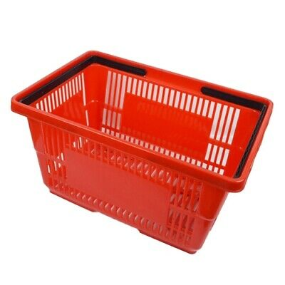 2 New Plastic Grocery Convenience Store Shopping Retail Basket Red Free Ship