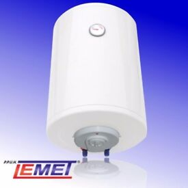New Greenline electric water heater 50 liter. Manufactured by LEMET.