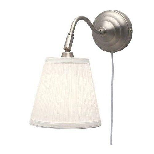 ikea wall lamp nickel white adjustable light reading uplight lighting arstid in poole dorset. Black Bedroom Furniture Sets. Home Design Ideas