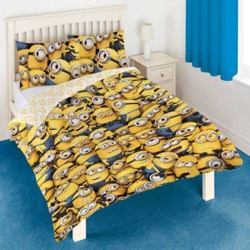 DESPICABLE ME MINIONS DOUBLE BED DUVET QUILT COVER SET (FREE P+P)
