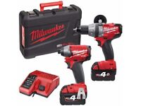 MILWAUKEE FUEL18V DRILL & IMPACT TWIN PACK