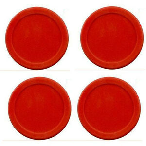 lot-of-4-pcs-63mm-14g-RED-Air-Hockey-table-4-Pucks-2-5-USA-Seller