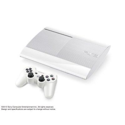 Used Sony PlayStation 3 PS3 Slim CECH-4000B White 250GB Console Japan Japanese