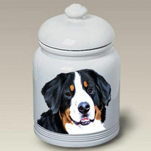 Bernese Mountain Dog Ceramic Treat Jar BVV 23051