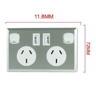 10A Double Australian USB Power Point Supply 2 Socket Switch Wall