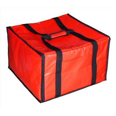 Red Insulated Pizza Delivery Bag Food Saver Travel Container Storage Keeper New