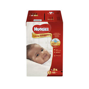 198 Count Huggies Snugglers Size 1 Unopened