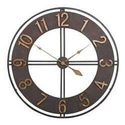 Studio Designs 30 Industrial Loft Analog Home Decor Wall Clock, Dark (Open Box)