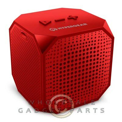 Naztech HyperGear Sound Cube Wireless Speaker - Red Hear Listen Audio Sound
